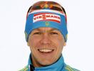 Андрей Дериземля на подиуме спринта рядом с Фуркадом и Бё!