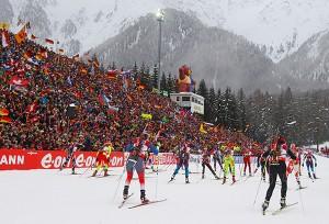 Биатлон. Женская эстафета на этапе Кубка мира остановлена из-за тумана