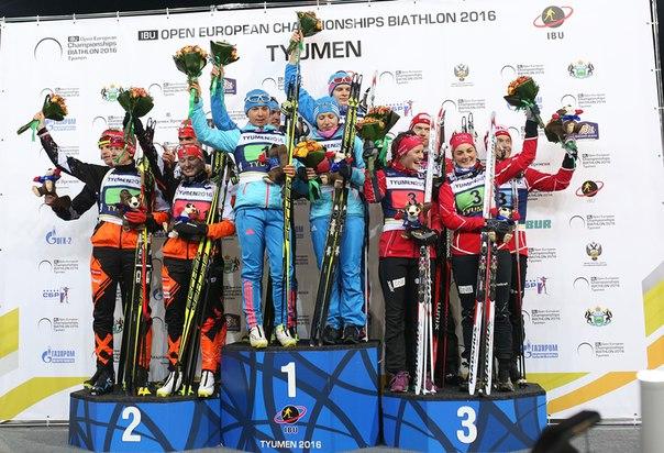 Жители России  выиграли смешанную эстафету начемпионате Европы побиатлону