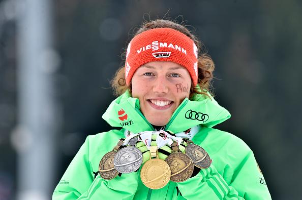 Немецкая биатлонистка Дальмайер взяла пятое золотоЧМ вХохфильцене