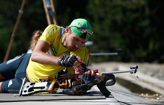 Biathlon Russian team trening.