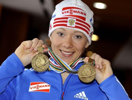 Ольга Зайцева выигрывает спринт Хохфильцена 16 декабря 2011